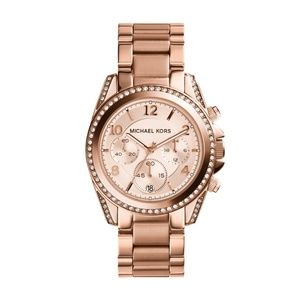 Michael Kors Rose Goldtone Blair Chronograph Watch
